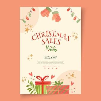 Ulotka świąteczna sprzedaży a5 pionowa
