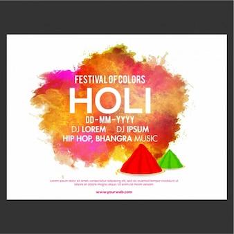 Ulotka szablon dla festiwalu kolory