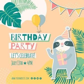 Ulotka urodzinowa dla dzieci