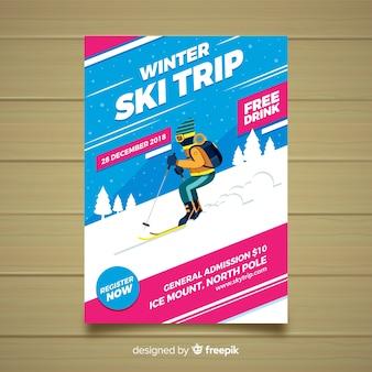 Ulotka wycieczka narciarska