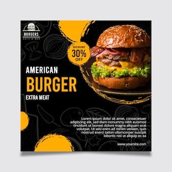 Ulotka z amerykańskim jedzeniem