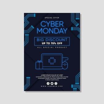 Ulotka z cyber poniedziałek