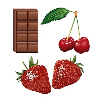 Ulotka z czekoladą i jagodami