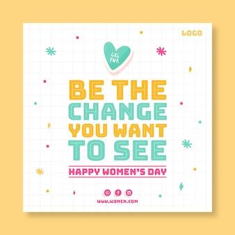Ulotka z okazji międzynarodowego dnia kobiet