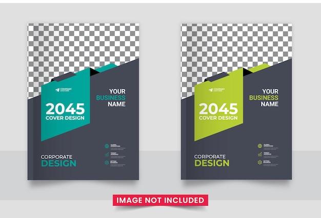 Ulotka z raportem rocznym broszura biznesowa okładka układ szablonu projektu okładki w formacie a4