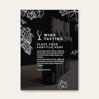 Ulotka z szablonem degustacji wina