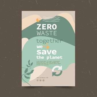 Ulotka z szablonem zero waste