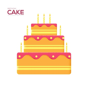 Ulotka z tortem urodzinowym, czasopisma, plakat, okładka książki, banery. tekstura ziarna i efekt szumu.