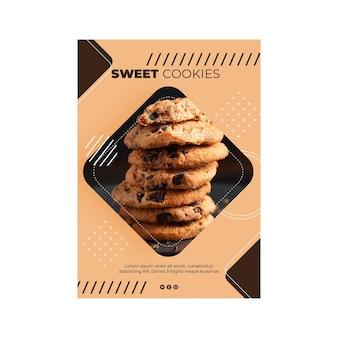 Ulotka ze słodkimi ciasteczkami pionowa