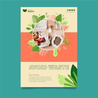 Ulotka zero waste w pionie