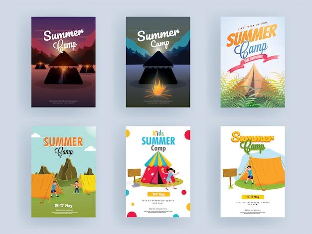 Ulotki z wakacji letnich.
