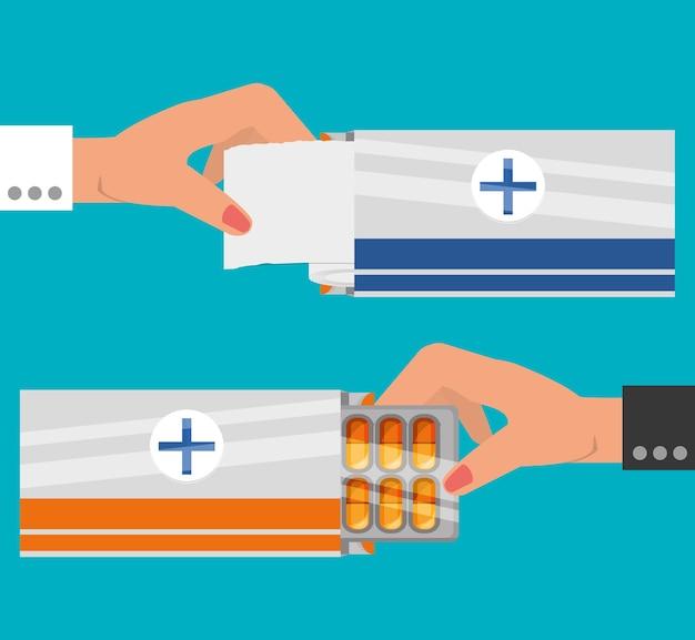 Ułóż dłonie w leczeniu maści medycznych