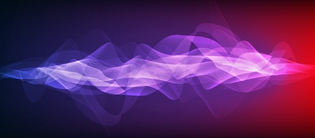 Ultra violet digital sound wave background