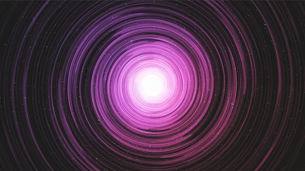 Ultra violetl czarna dziura na tle galaxy z drogą mleczną