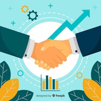Umowa biznesowa uścisk dłoni