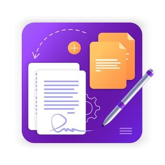 Umowa elektroniczna lub podpis cyfrowy proces pracypodpisanie umowy elektronicznej online
