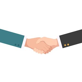Umowa handshake biznesmen