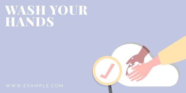 Umyj ręce szablon ochrony przed koronawirusem