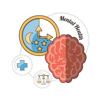 Umysł umysłowego zdrowia i spokojny