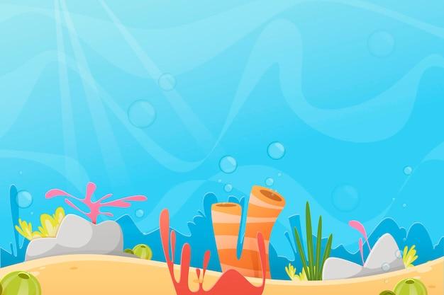Under the sea - tło do wideokonferencji