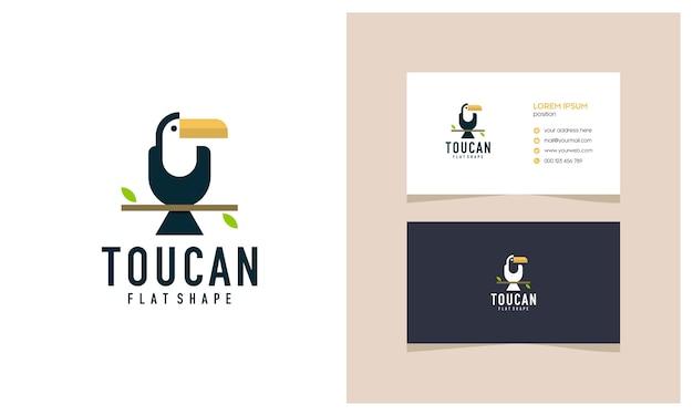 Unikalna ilustracja logo tukan