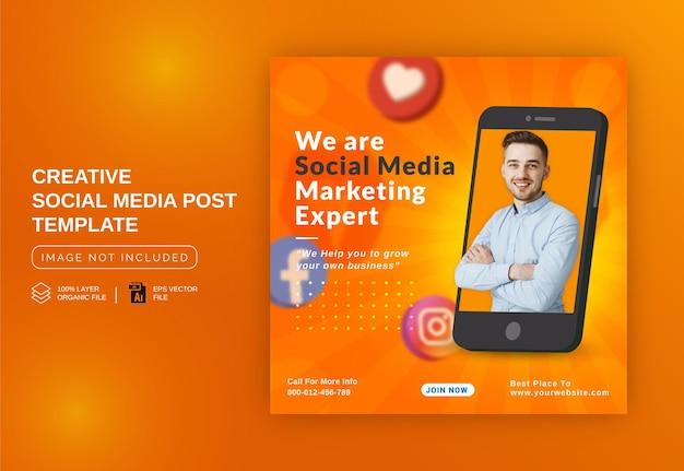 Unikalna koncepcja postu w mediach społecznościowych na żywo do promocji marketingu cyfrowego szablon okładki na facebooka