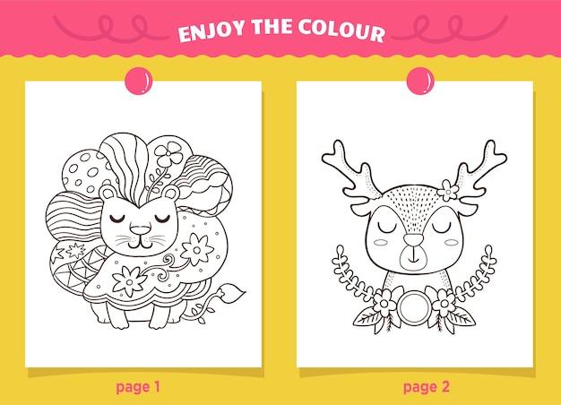 Unikalna Strona Do Kolorowania Lwa Dla Dzieci Premium Wektorów
