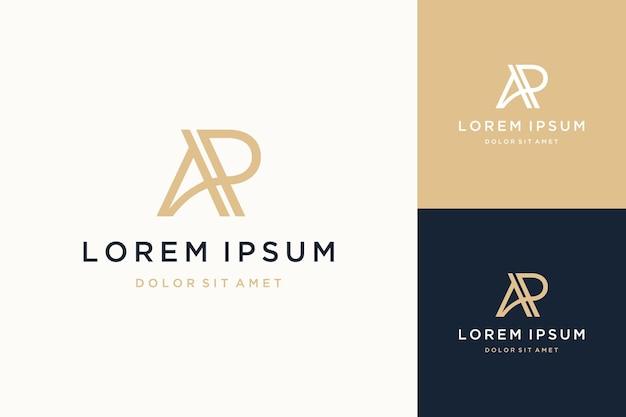 Unikalne logo projektu lub monogram lub inicjały litery ap
