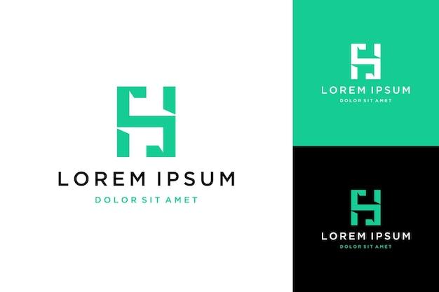 Unikalne logo projektu lub monogram lub pierwsza litera hs