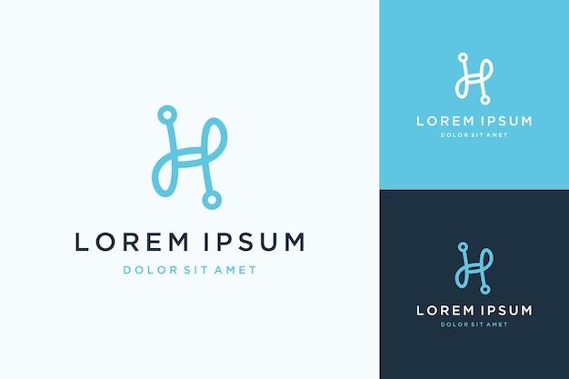 Unikalne logo projektu monogramu lub inicjały h