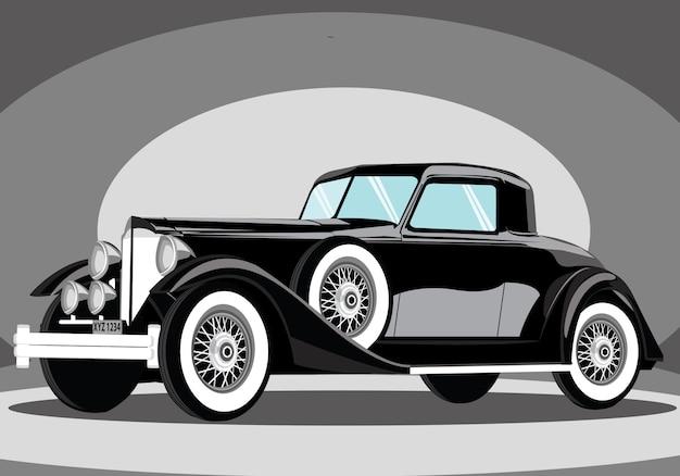 Unikalny czarny samochód tło