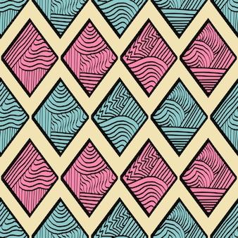Unikalny diament ręcznie rysowane abstrakcyjny wzór