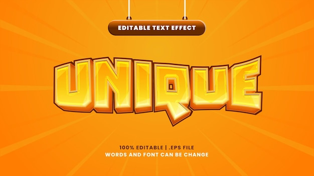 Unikalny edytowalny efekt tekstowy w nowoczesnym stylu 3d