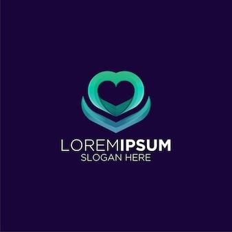Unikalny gradient logo miłości