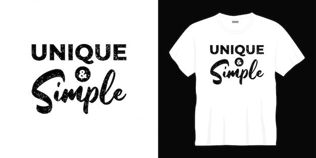 Unikalny i prosty projekt koszulki typograficznej