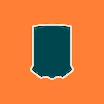 Unikalny kształt odznaki puste tarczy