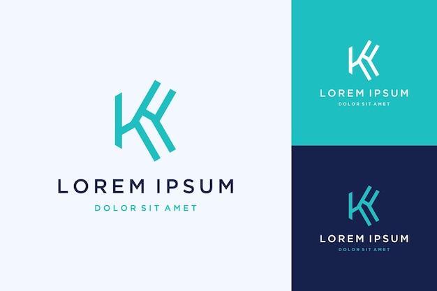 Unikalny projekt logo lub monogram lub inicjały litera k