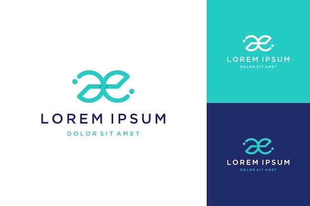Unikalny projekt logo lub monogram lub pierwsza litera ae