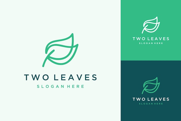 Unikalny projekt logo roślin lub liści