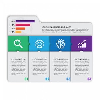 Unikalny szablon projektu infographic