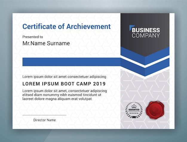 Uniwersalny profesjonalny szablon certyfikatu