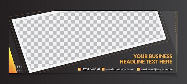 Uniwersalny szablon banera na okładkę facebooka