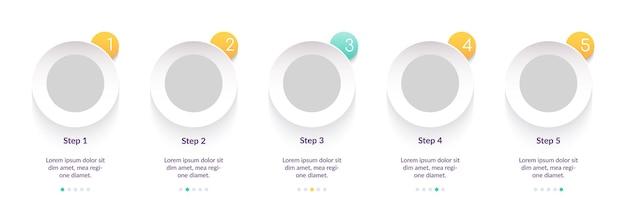 Uniwersalny szablon infografiki w prostym, kreatywnym stylu