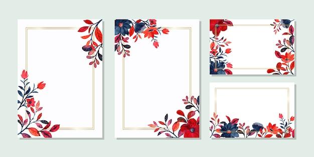 Uniwersalny szablon karty z akwarela kwiatowy
