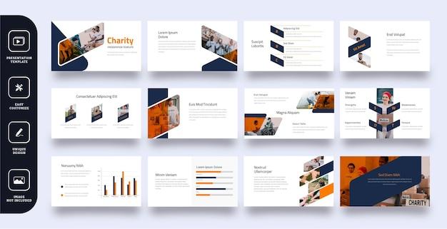 Uniwersalny szablon prezentacji slajdu biznesowego 12 stron