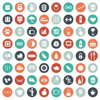 Uniwersalny zestaw ikon dla stron internetowych i aplikacji mobilnych