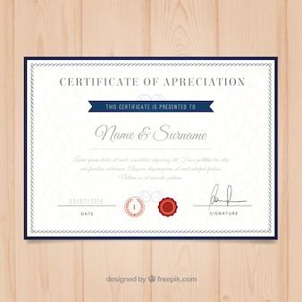 Uniwersytet szablonu certyfikatu