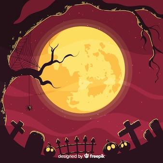 Upiorny halloween tło
