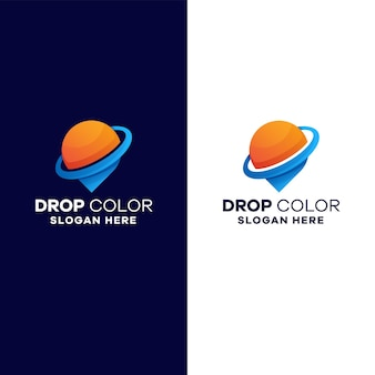 Upuść szablon logo gradientu