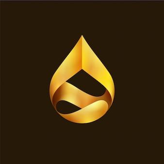 Upuść złote logo